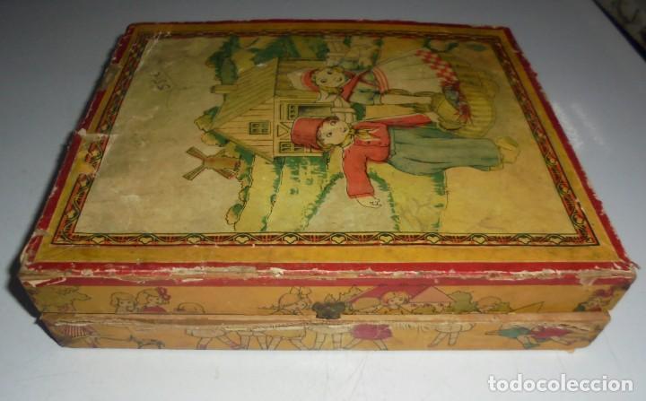 Puzzles: ANTIGUO ROMPECABEZAS. CUBOS DE CARTON. CADA CARA UNA IMAGEN. LITOGRAFIAS. VER - Foto 15 - 146492546