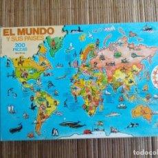 Puzzles: PUZZLE EL MUNDO Y SUS PAISES, 200 PIEZAS, EDUCA (COMPLETO). Lote 146840514