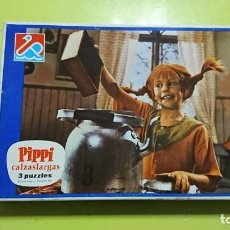 Puzzles: PIPPI CALZASLARGAS, 3 PUZZLES, FALOMIR, COMPLETO . Lote 147047374