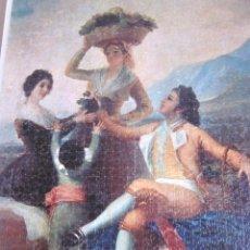 Puzzles: ENORME PUZLE PUZZLE CUADRO MONTADO LA VENDIMIA GOYA SOBRE TABLA 96 CM X 68 CM. Lote 147455438
