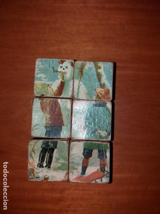 PUZZLE ANTIGUO DE CUBOS (Juguetes - Juegos - Puzles)