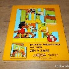 Puzzles: MARAVILLSO PUZZLE LABERINTO DE ZIPI ZAPE. JUEDSA. CATALONIA PRESS. AÑOS 70-80. UNA JOYA!!!!. Lote 149571298