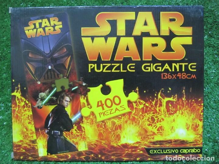 PUZZLE GIGANTE 400 PIEZAS STAR WARS 136 X 48 CM AÑO 2005 EXCUSIVO CAPRABO (Juguetes - Juegos - Puzles)