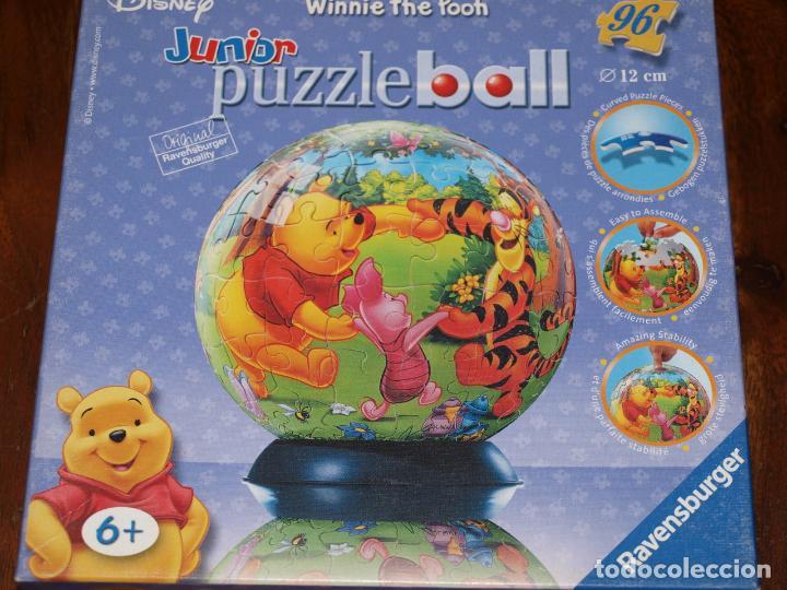 PUZZLE BALL JUNIOR. WINNIE THE POOH. 96 PIEZAS. RAVENSBURGER. 12 CM DIAMETRO. VER FOTOS Y DESCRIPCIO (Juguetes - Juegos - Puzles)