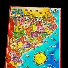 Puzzles: PUZZLE 142 PIEZAS - COMARQUES DE CATALUNYA COMARCAS - ED. DISET - PUZLE 50 X 35 CM. GEOGRAFIA. Lote 150148826