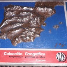 Puzzles: VILPA ROMPECABEZAS COLECCION GEOGRAFICA EN RELIEVE , PUZZLE ANTIGUO, AÑOS 70. Lote 150582882