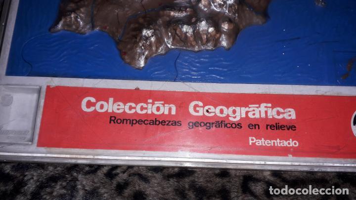 Puzzles: VILPA ROMPECABEZAS COLECCION GEOGRAFICA EN RELIEVE , PUZZLE ANTIGUO, AÑOS 70 - Foto 3 - 150582882
