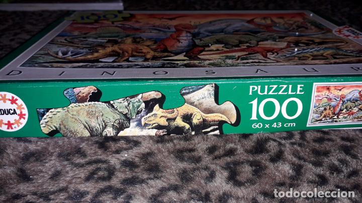 Puzzles: EDUCA PUZZLE DINOSAURS 100 PÌEZAS, PUZZLE ANTIGUO , JUGUETE ANTIGUO - Foto 4 - 150583630