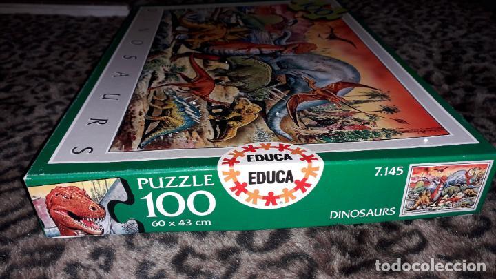 Puzzles: EDUCA PUZZLE DINOSAURS 100 PÌEZAS, PUZZLE ANTIGUO , JUGUETE ANTIGUO - Foto 5 - 150583630