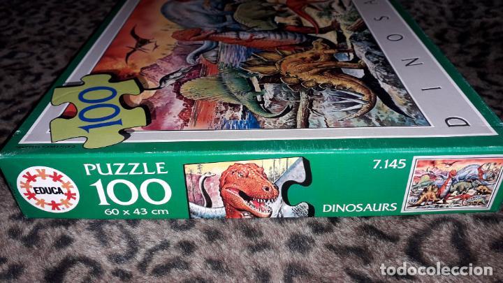Puzzles: EDUCA PUZZLE DINOSAURS 100 PÌEZAS, PUZZLE ANTIGUO , JUGUETE ANTIGUO - Foto 6 - 150583630