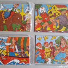 Puzzles: LOTE DE 4 ANTIGUOS PUZZLES FORMATO PEQUEÑO.. Lote 151135080