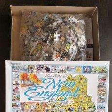 Puzzles: PUZZLE, COMPOSICIÓN, ROMPECABEZAS DE 1000 PIEZAS THE BEST OF NEW ENGLAND. WHITE MOUNTAIN PUZZLES. Lote 151135126