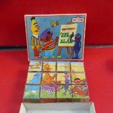 Puzzles: PUZZLE DE CUBOS...BARRIO SESAMO...AÑOS 80..CAJA ALGO PINTADA... Lote 151231286