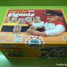 Puzzles: PUZZLE TREN GIGANTE EDUCA 82 SIN USAR CLEMENTONI CEFA RAVESBURGUER DISET DJECO HEYE HASBRO FEBER. Lote 104099534