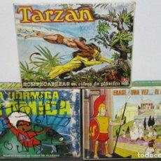 Puzzles: ROMPECABEZAS CUBOS ERASE UNA VEZ...EL HOMBRE, TARZAN, LA HORMIGA ATÓMICA, DALMAU CARLES PLA, AÑOS 80. Lote 151335014