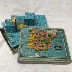 Puzzles: ROMPECABEZAS CUBOS PUZZLE GEOGRAFIA ESPAÑA Y PORTUGAL JUEGO MESA. Lote 152135102
