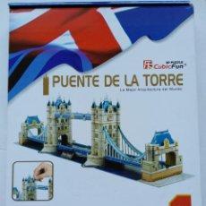 Puzzles: PUZZLE 3D CUBICFUN: PUENTE DE LA TORRE DE LONDRES (LONDON TOWER BRIDGE) (120 PIEZAS).. Lote 152186486