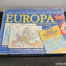 Puzzles: EUROPA, 2 PUZLES DE EUROPA DE 150 PIEZAS. APRENDE GEOGRAFÍA. PUZZLE (ENVÍO 4,31€). Lote 152186694
