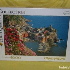 Puzzles: PUZZLE 4000 PIEZAS DE CLEMENTONI, VERNAZZA, NUEVO SIN ABRIR, PRECINTADO. Lote 153647346