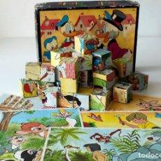 Puzzles: ROMPECABEZAS CON CUBOS DE CARTÓN. WALT DISNEY. EDIGRAF, BARCELONA,MADE IN SPAIN. ORIGINAL, AÑOS 70. . Lote 154654962