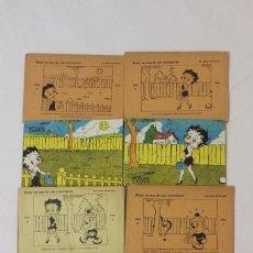 Puzzles: PUSLER BETTY EN UNA DE SUS TRAVESURAS, SERIE D NÚMEROS 1,2,3 Y 5. PUBLICIDAD AGUA DEL CARMEN. PUZZLE. Lote 155765002