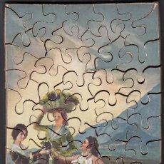 Puzzles: PUZLE COMPLETO DE PIEZAS DE MADERA FORMANDO EL CUADRO DE GOYA *LA VENDIMIA* AÑOS 20. Lote 155855342