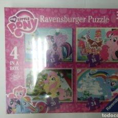 Puzzles: 4 PUZZLES RAVENSBURGER, 12 PCS, 16 PCS, 20 PCS, 24 PCS, 3 AÑOS.. Lote 155905856