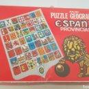 Puzzles: PUZZLE GEOGRÁFICO ESPAÑA PROVINCIAS SILUETEADAS CON MAPA.DALMAU CARLES. - ARM01. Lote 157292370