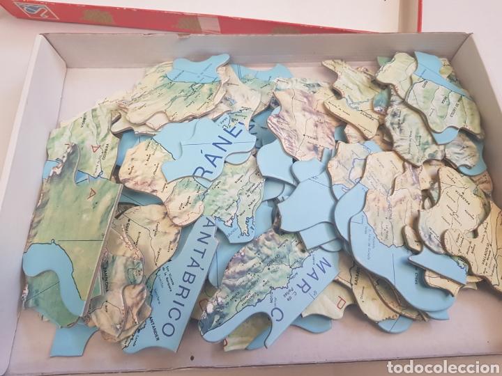 Puzzles: PUZZLE GEOGRÁFICO ESPAÑA PROVINCIAS SILUETEADAS CON MAPA.DALMAU CARLES. - arm01 - Foto 2 - 157292370