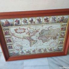 Puzzles: BONITO PUZZLE ENMARCADO, MAPA GEOGRAFICO E HIDROGRAFICO DE LA TIERRA. Lote 158137948