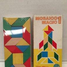 Puzzles: JUEGO MOSAICO MAGIC DE GOULA AÑOS 70 MADERA. Lote 159453586