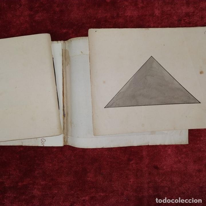 Puzzles: JUEGO DE LAS 7 PIEZAS O ROMPE-CABEZAS. ACUARELA. MANUSCRITO. ESPAÑA. FIN SIGLO XIX - Foto 4 - 159504382
