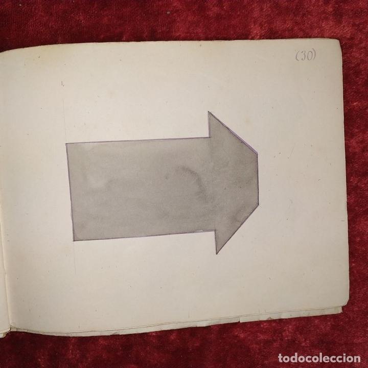 Puzzles: JUEGO DE LAS 7 PIEZAS O ROMPE-CABEZAS. ACUARELA. MANUSCRITO. ESPAÑA. FIN SIGLO XIX - Foto 5 - 159504382