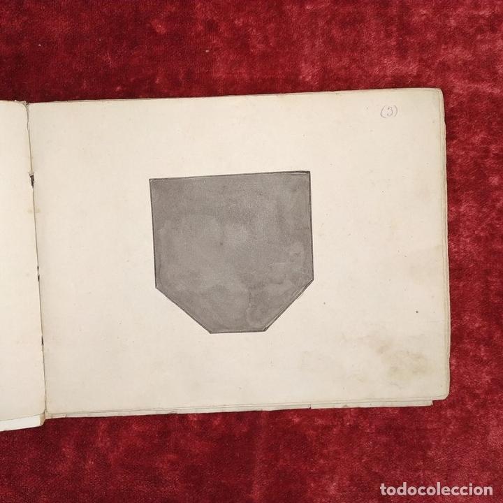 Puzzles: JUEGO DE LAS 7 PIEZAS O ROMPE-CABEZAS. ACUARELA. MANUSCRITO. ESPAÑA. FIN SIGLO XIX - Foto 6 - 159504382