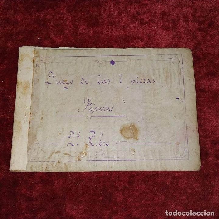 Puzzles: JUEGO DE LAS 7 PIEZAS O ROMPE-CABEZAS. ACUARELA. MANUSCRITO. ESPAÑA. FIN SIGLO XIX - Foto 8 - 159504382
