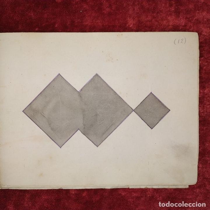 Puzzles: JUEGO DE LAS 7 PIEZAS O ROMPE-CABEZAS. ACUARELA. MANUSCRITO. ESPAÑA. FIN SIGLO XIX - Foto 10 - 159504382