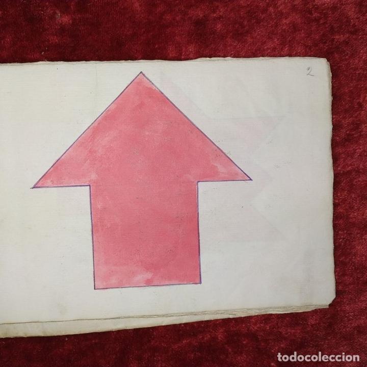 Puzzles: JUEGO DE LAS 7 PIEZAS O ROMPE-CABEZAS. ACUARELA. MANUSCRITO. ESPAÑA. FIN SIGLO XIX - Foto 11 - 159504382