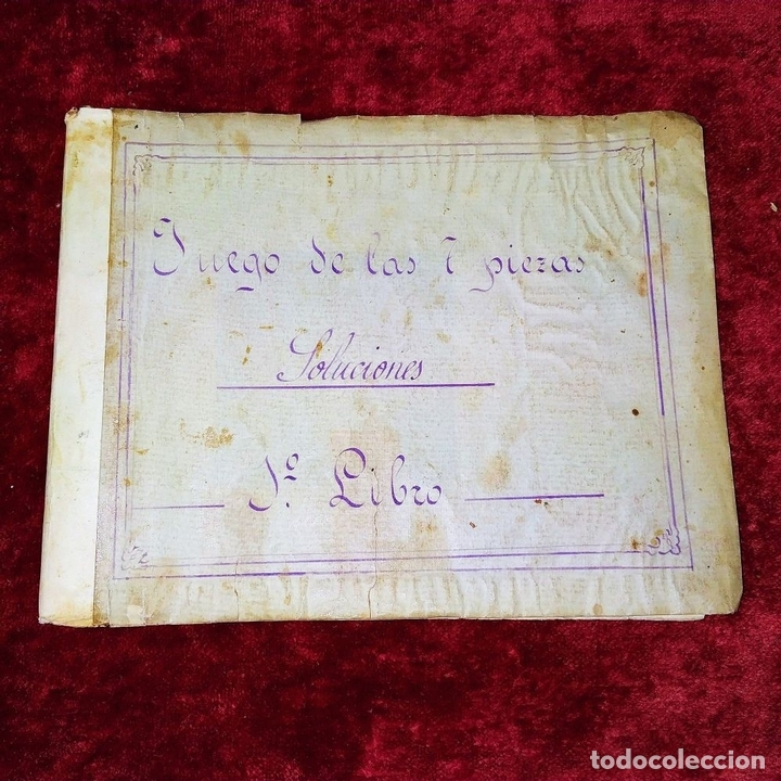 Puzzles: JUEGO DE LAS 7 PIEZAS O ROMPE-CABEZAS. ACUARELA. MANUSCRITO. ESPAÑA. FIN SIGLO XIX - Foto 12 - 159504382