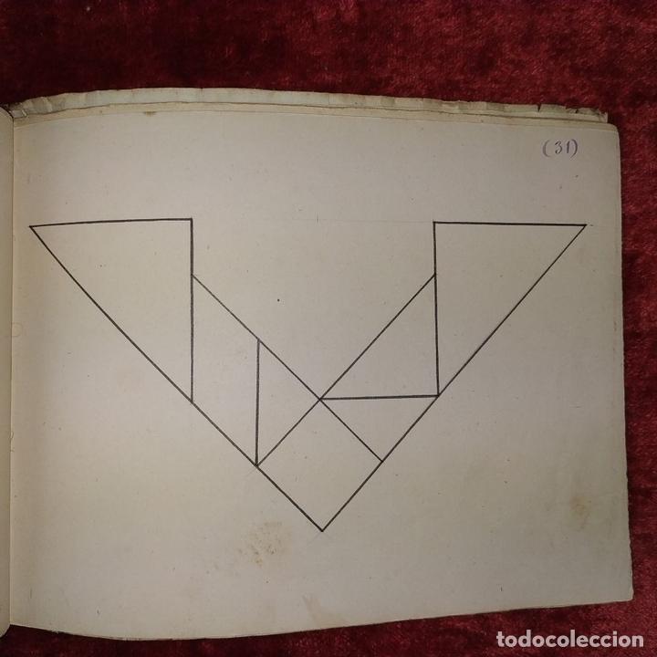 Puzzles: JUEGO DE LAS 7 PIEZAS O ROMPE-CABEZAS. ACUARELA. MANUSCRITO. ESPAÑA. FIN SIGLO XIX - Foto 16 - 159504382