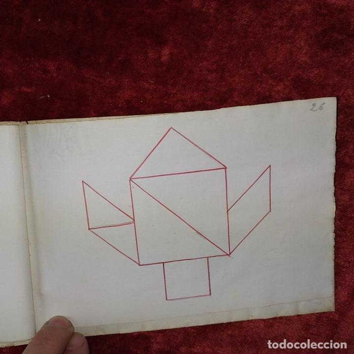 Puzzles: JUEGO DE LAS 7 PIEZAS O ROMPE-CABEZAS. ACUARELA. MANUSCRITO. ESPAÑA. FIN SIGLO XIX - Foto 19 - 159504382