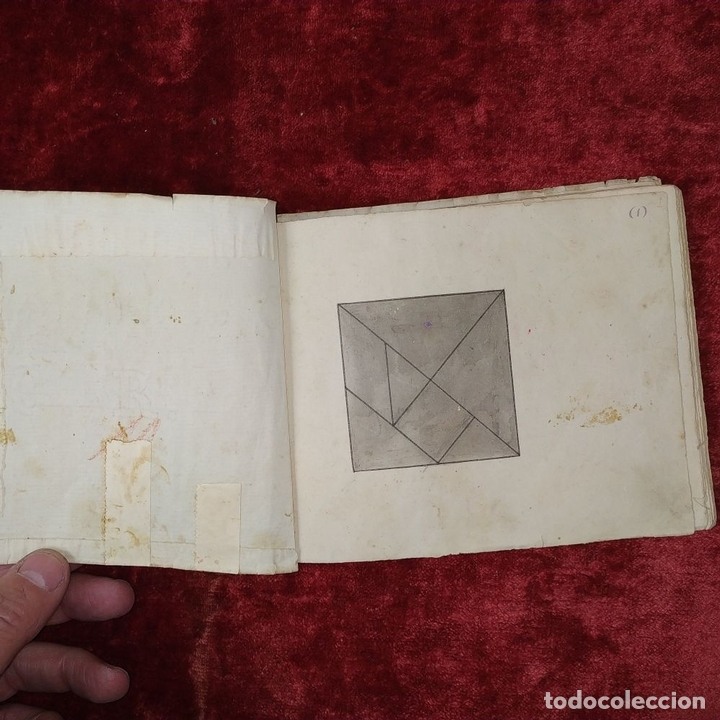 Puzzles: JUEGO DE LAS 7 PIEZAS O ROMPE-CABEZAS. ACUARELA. MANUSCRITO. ESPAÑA. FIN SIGLO XIX - Foto 20 - 159504382