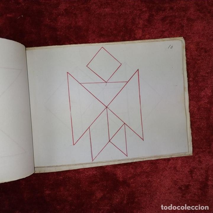 Puzzles: JUEGO DE LAS 7 PIEZAS O ROMPE-CABEZAS. ACUARELA. MANUSCRITO. ESPAÑA. FIN SIGLO XIX - Foto 21 - 159504382