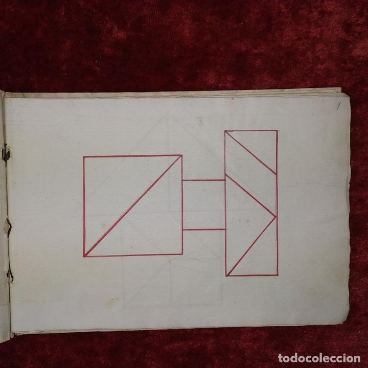 Puzzles: JUEGO DE LAS 7 PIEZAS O ROMPE-CABEZAS. ACUARELA. MANUSCRITO. ESPAÑA. FIN SIGLO XIX - Foto 22 - 159504382
