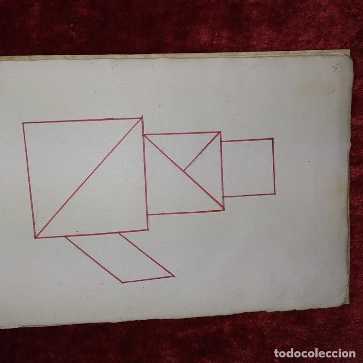 Puzzles: JUEGO DE LAS 7 PIEZAS O ROMPE-CABEZAS. ACUARELA. MANUSCRITO. ESPAÑA. FIN SIGLO XIX - Foto 23 - 159504382