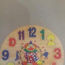 Puzzles: PUZZLE DE MADERA RELOJ DE 30 X 30 CMS MUY NUEVO. Lote 161908282