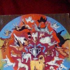 Puzzles: ANTIGUO PUZZLE REDONDO DE MADERA AREAS DE PERROS. ANOS 60. Lote 162373994