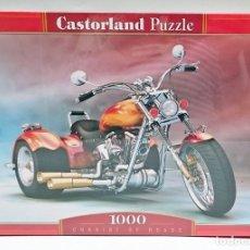 Puzzles: PUZZLE 1000 PIEZAS 68 X 47 CM CASTORLAND REF C - 101696 MOTO CHARIOT OF ROADS. Lote 57284735
