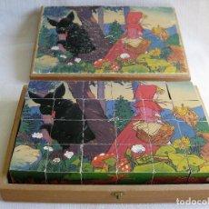 Puzzles: PUZLE ROMPECABEZAS DE 24 CUBOS DE MADERA MACIZA 6 ESCENAS DE JUEGOS INFANTILES CIRCA 1930 . Lote 164689542
