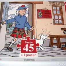 Puzzles: PUZZLE TINTIN - LA ISLA NEGRA - 45 PIEZAS. Lote 165187674