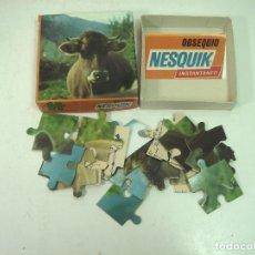 Puzzles: COMPLETO ¡¡ PUZLE OBSEQUIO NESQUIK - VACA AÑOS 70 80 - PUZZLE INSTANTANEO 25 PZS-REGALO . Lote 166180706